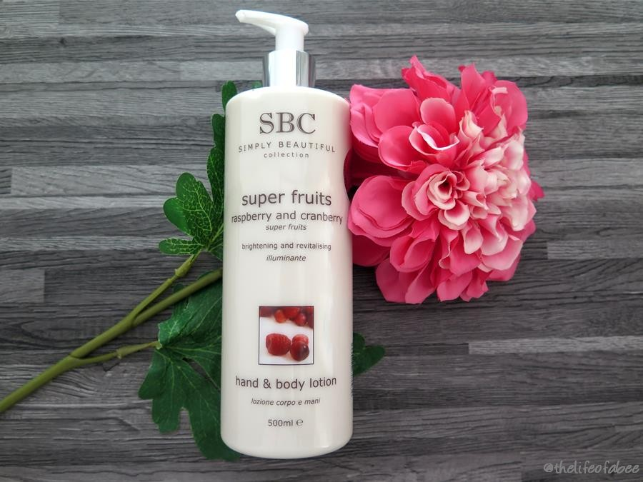 recensione sbc super fruits body hand lotion