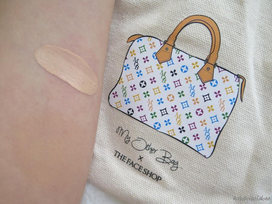 recensione cc cream the face shop the other bag Oil Control Water Cushion swatch