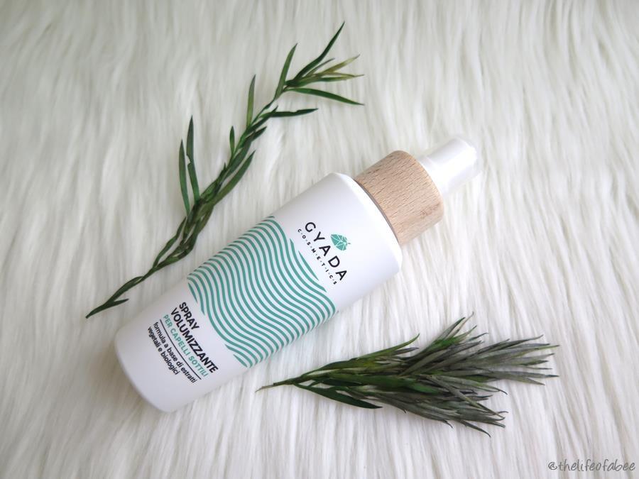 recensione review spray volumizzante gyada cosmetics capelli