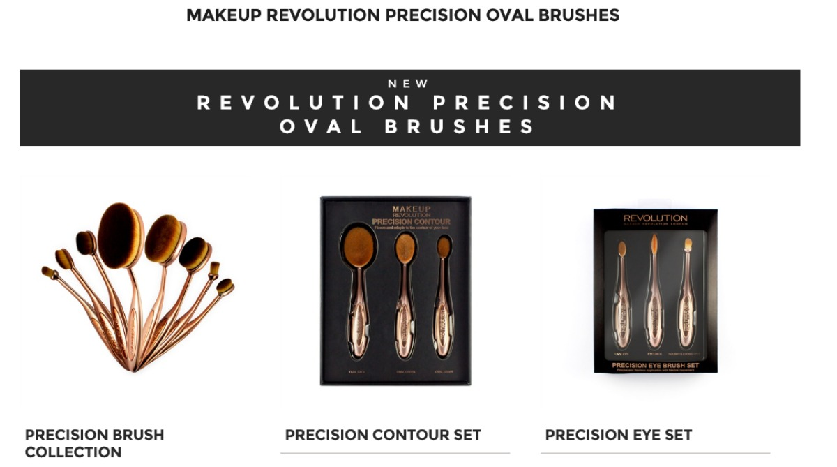 oval brush makeup revolution