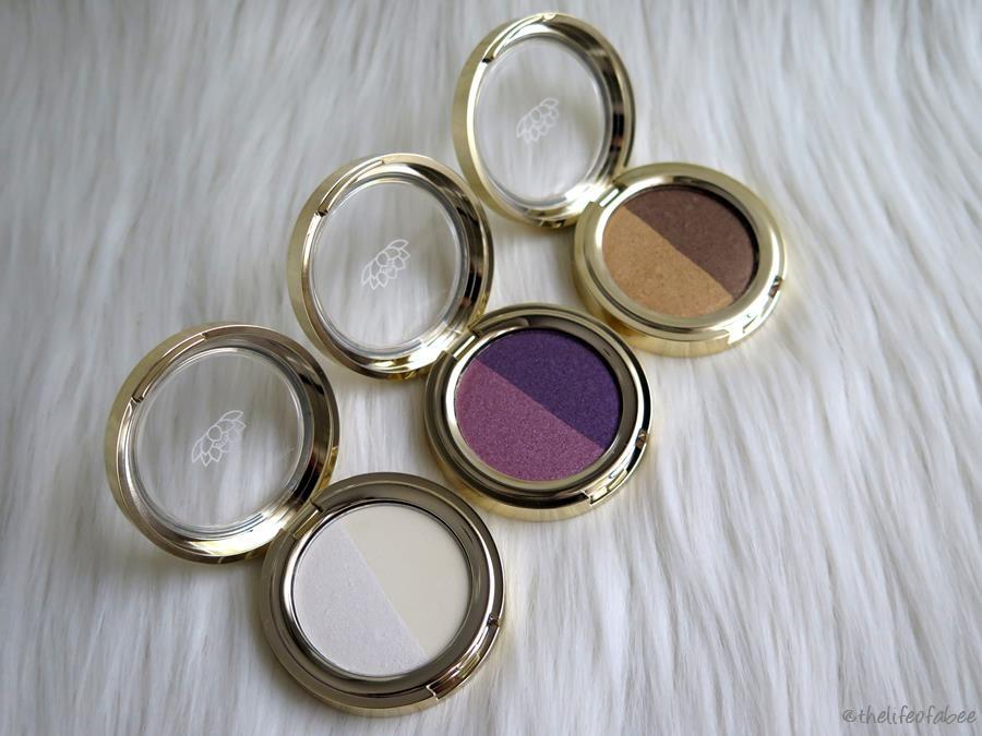 lakshmi recensione swatch ombretto gold sand vibrant violet white vanilla
