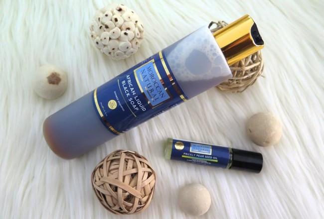 recensione moroccan natural black soap prickly pear seed oil