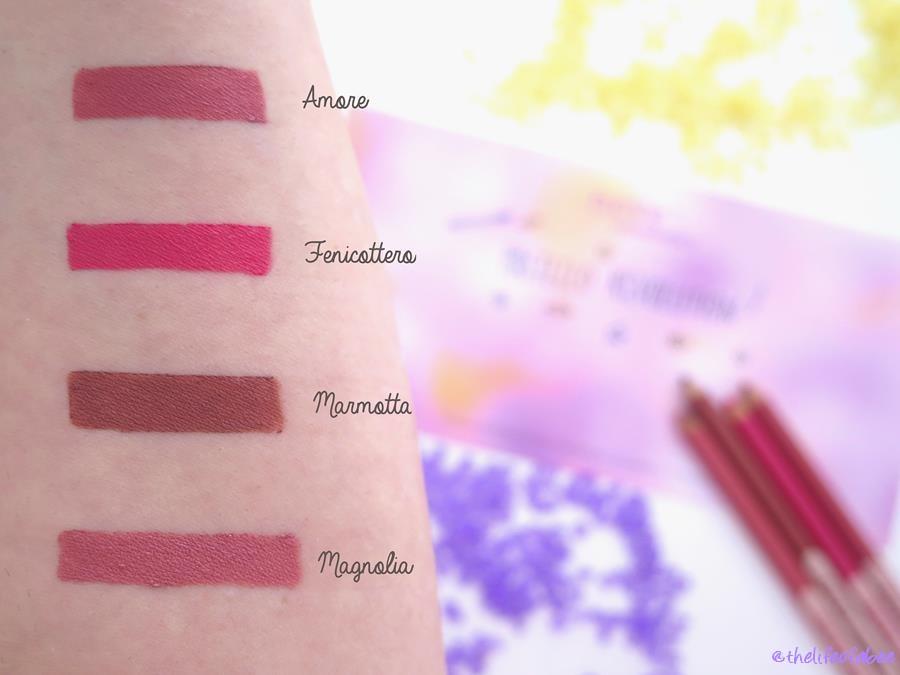 pastello labbra neve cosmetics swatch