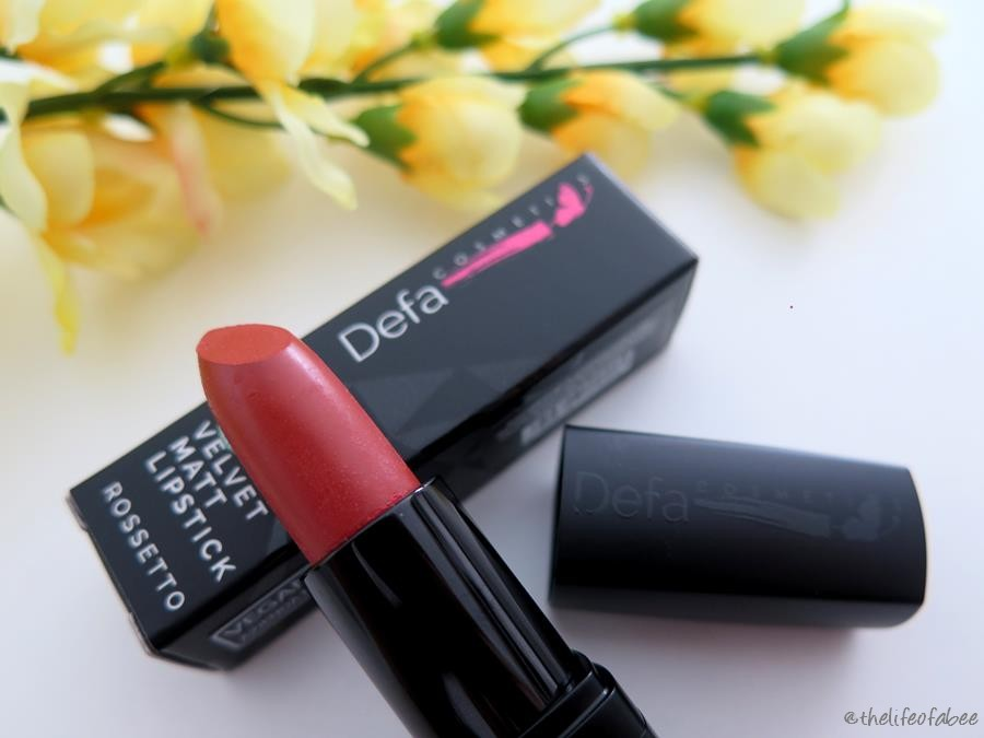 Defa Cosmetics recensione swatches velvet matt lipstick beautiful mess