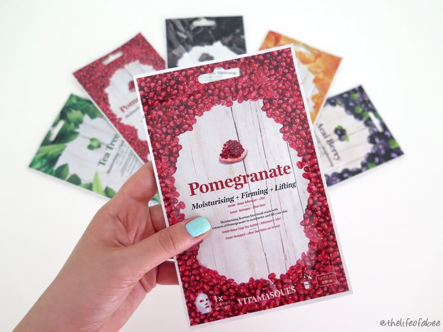 vitamasques review recensione pomegranade mask