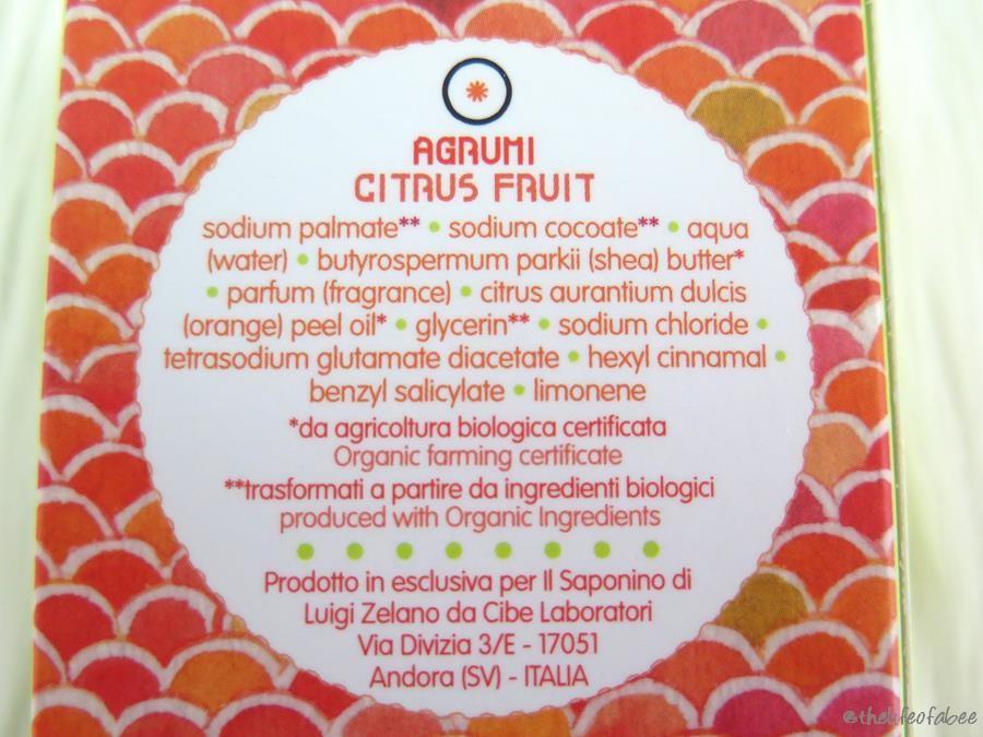 Hand il saponino recensione review sapone agli agrumi