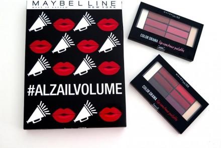 swatch review Color Drama Lip Contour Palette Maybelline