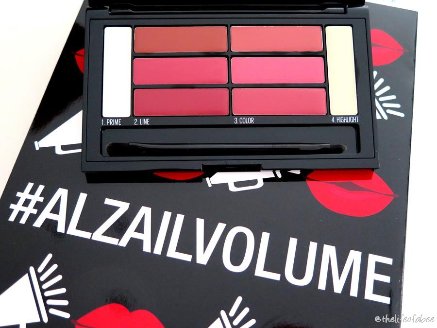 swatch review Color Drama Lip Contour Palette Maybelline blushed bombshell