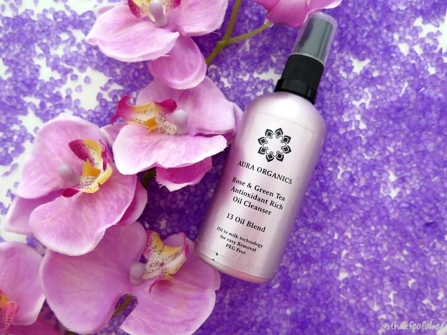 aura organics recensione review rose green tea cleansing oil