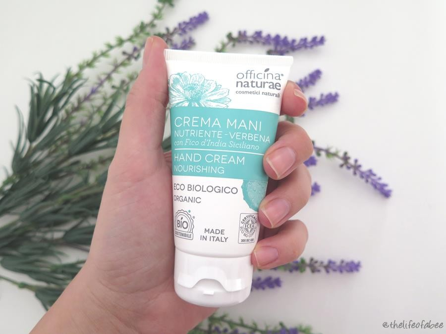 officina naturae crema mani nutriente verbena recensione review