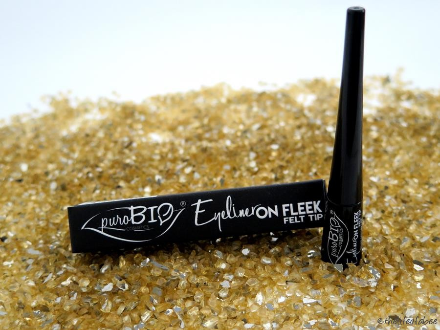 purobio cosmetics eyeliner on fleek felt tip swatch review