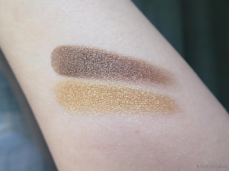 lakshmi recensione swatch ombretto gold sand