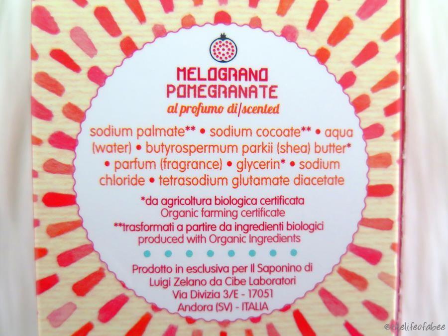 Hand il saponino recensione review sapone al melograno