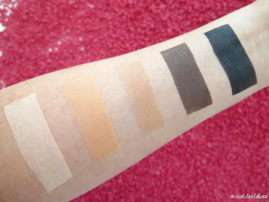 amber wonderland neve cosmetics swatch review