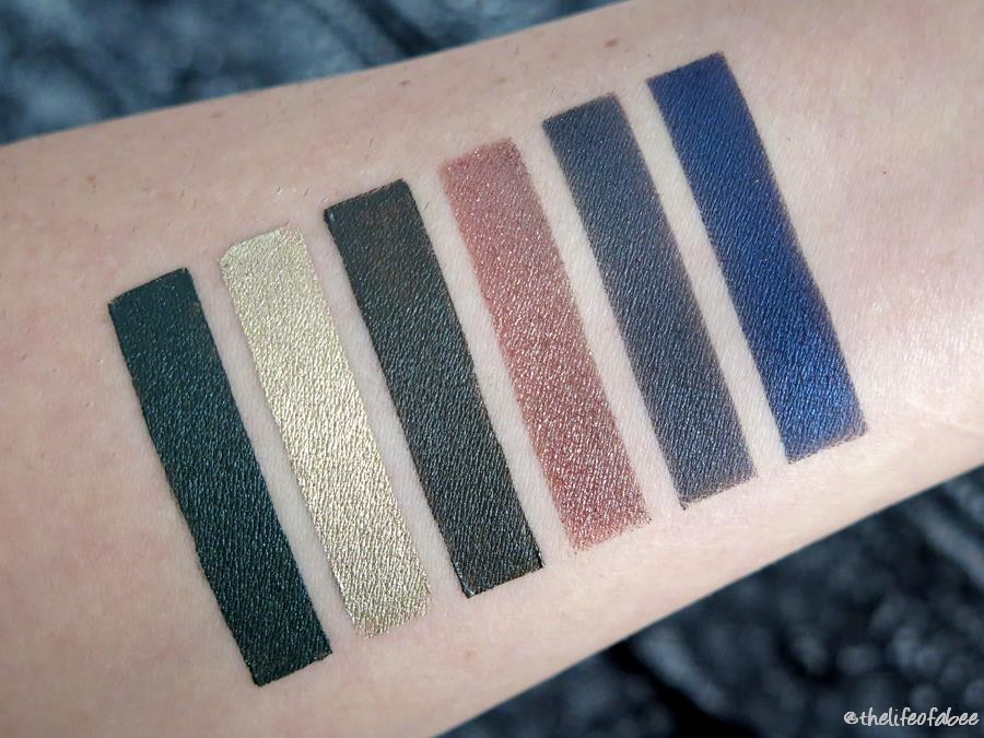 neogothic neve cosmetics swatch Dagger, Sword, Kinght Prophecy Melusine Hero