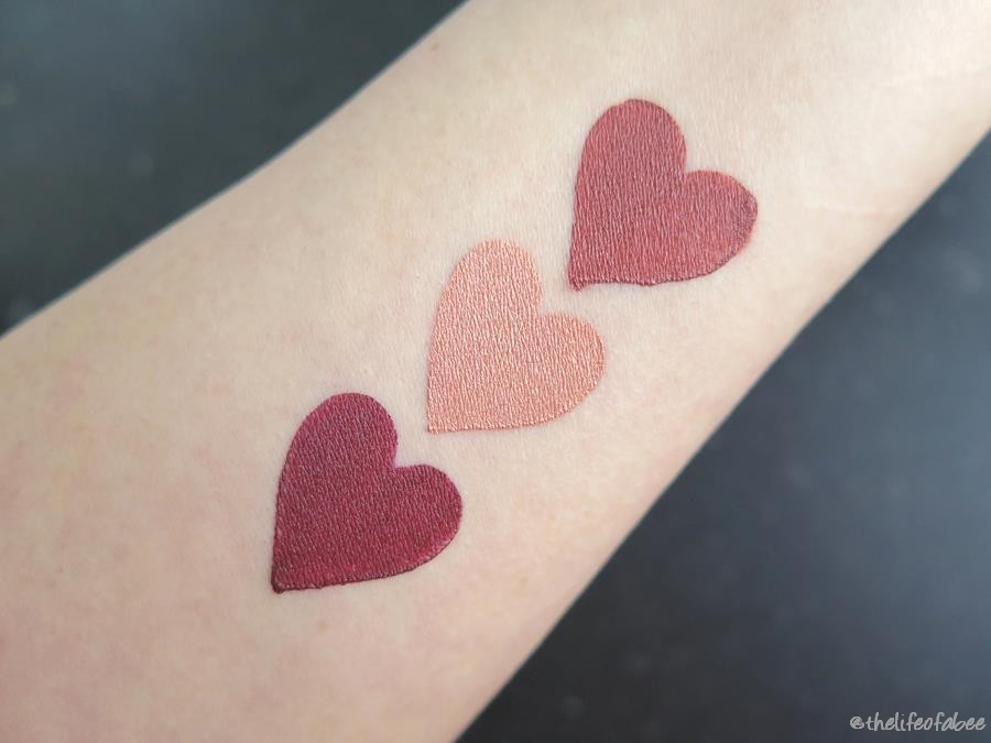nouveau cosmetics christmas collection limited edition jolly champagne ginger swatch