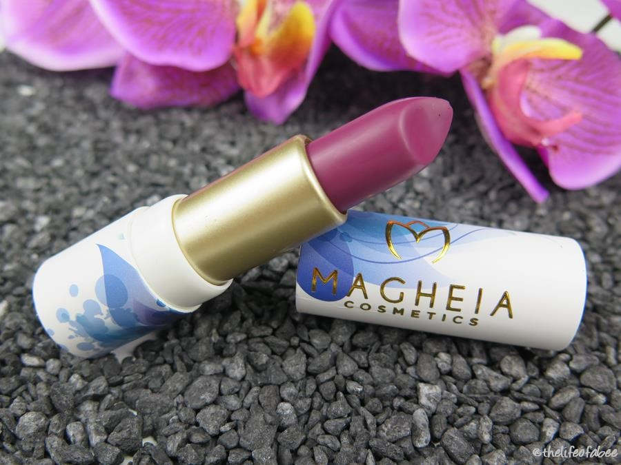 magheia cosmetics review swatch rossetto extase