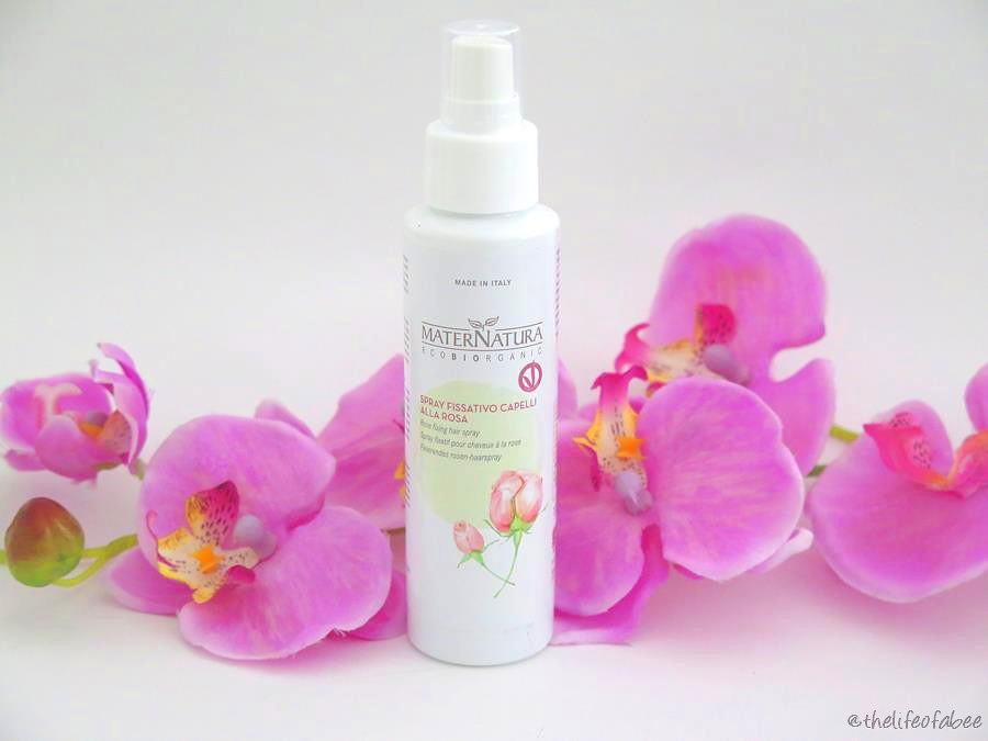 recensione review maternatura spray fissativo alla rosa capelli