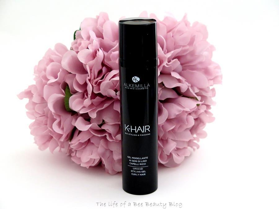 recensione linea k-hair alkemilla gel modellante semi di lino