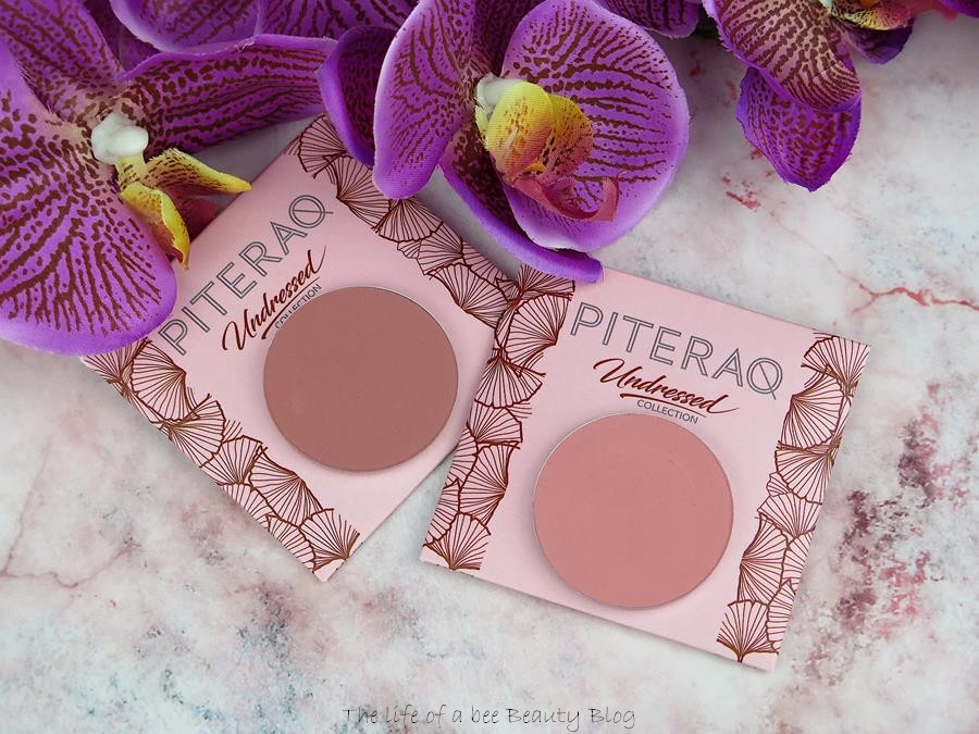 lingerie undressed collection piteraq cosmetics review swatches blush