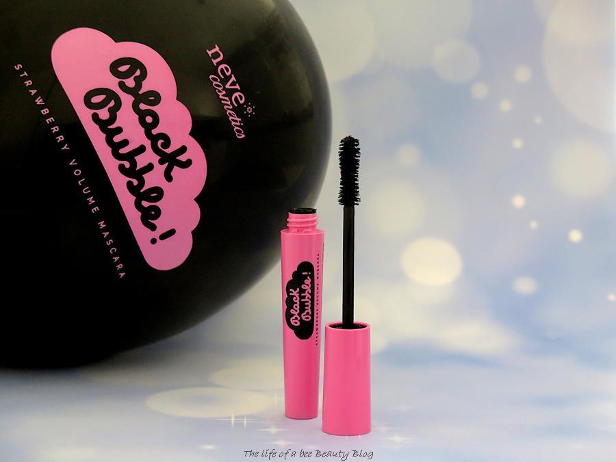 black bubble mascara neve cosmetics recensione review