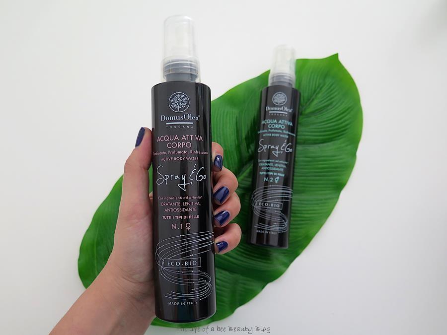 linea spray & go domus olea toscana recensione acqua attiva corpo