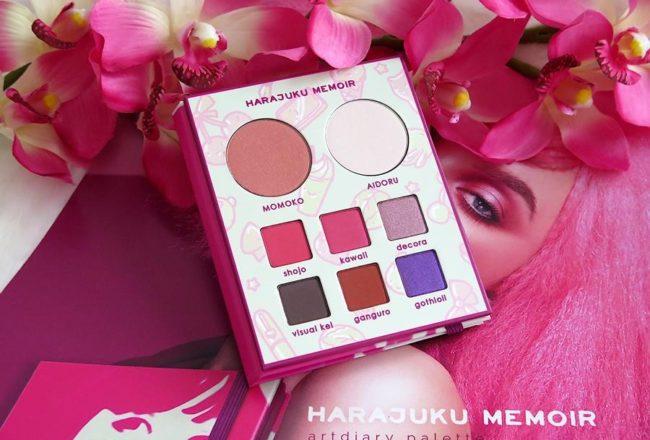 Harajuku Memoir Palette Neve COsmetics swatches review