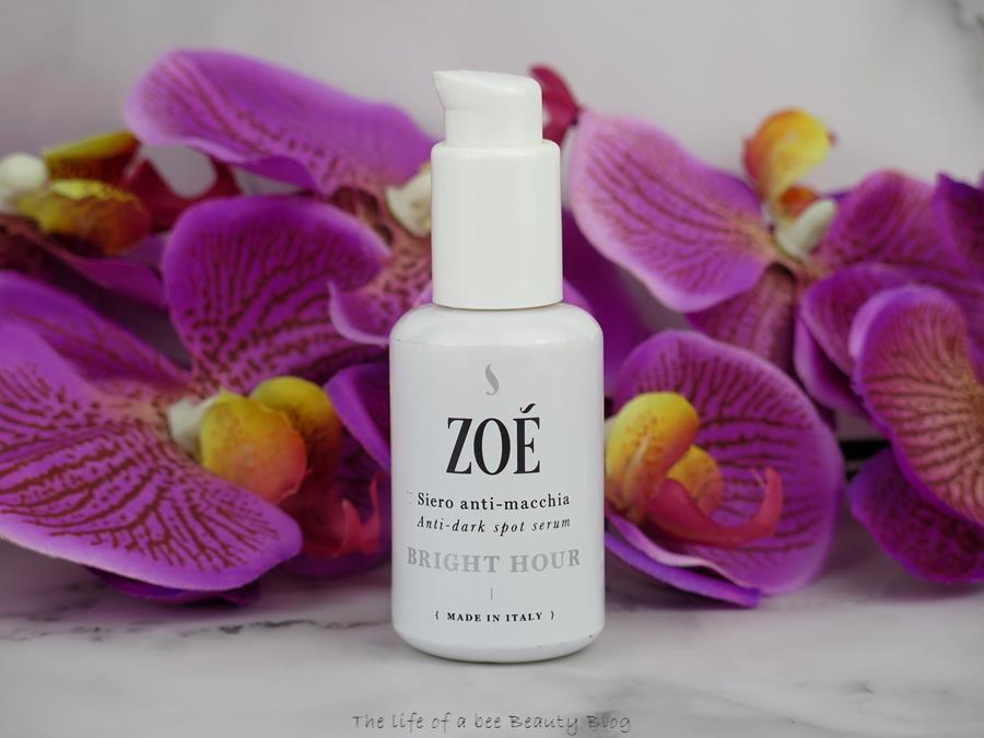Zoè cosmetics protocollo schiarente recensione bright hour