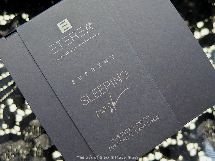 Supreme Sleeping Mask eterea cosmesi recensione opinioni